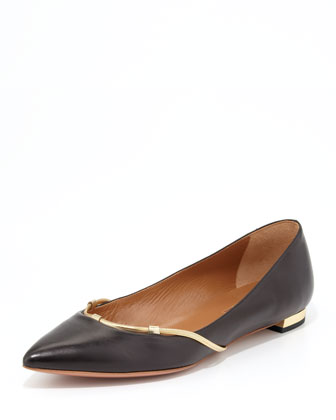 Amelie Chain-Trim Flat