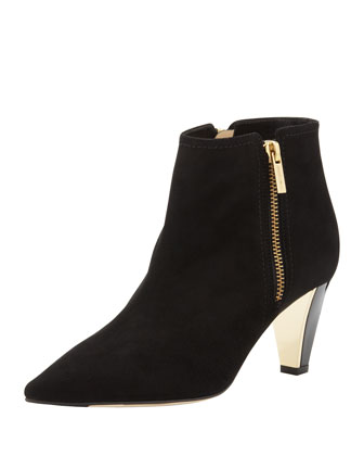 Lowry Suede Ankle Boot, Black