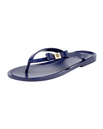 Michaela Bow Jelly Thong Sandal, Ultramarine