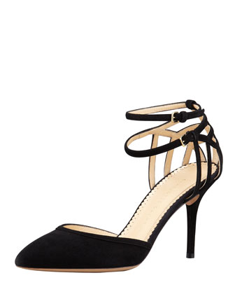 Aranea Spider-Web d'Orsay Pump, Black