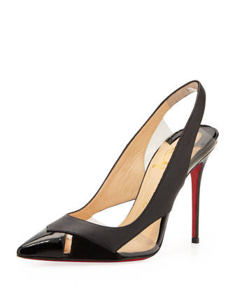 Air Chance Peekaboo Slingback Red Sole Pump