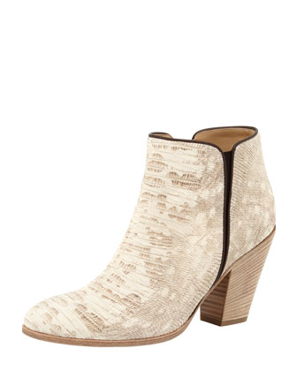 Snake-Print Ankle Boot