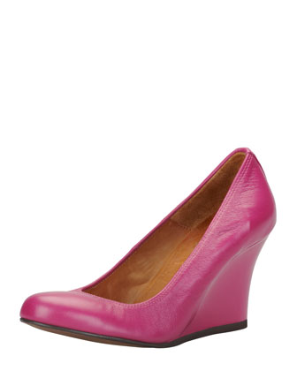 Ballerina Wedge Pump, Fuchsia