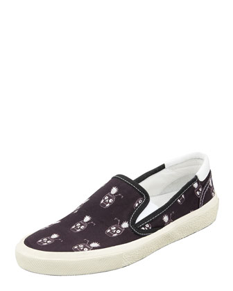 Pinaskullada Slip-On Sneaker, Black/White