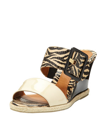 Patent Double-Strap Wedge Slide, Black