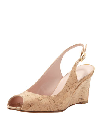 Decoslinky Slingback Wedge, Cork