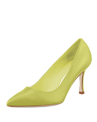 BB Leather 70mm Pump, Lime