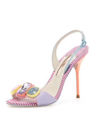 Jemima Crystal Sandal, Lavender/Multi