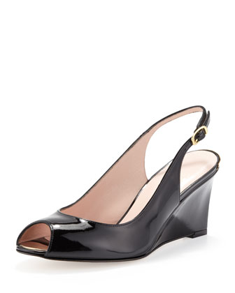 Decoslinky Slingback Wedge, Black