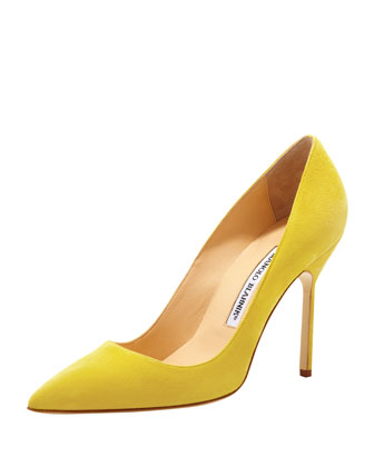 BB Suede 105mm Pump, Limone (Made to Order)
