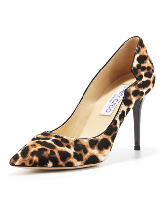 Lyric Leopard-Print Notched Pump