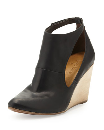 Jory Cutout Wedge Bootie