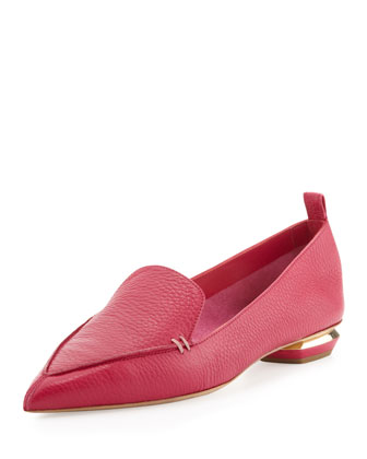 Pebbled Point-Toe Loafer