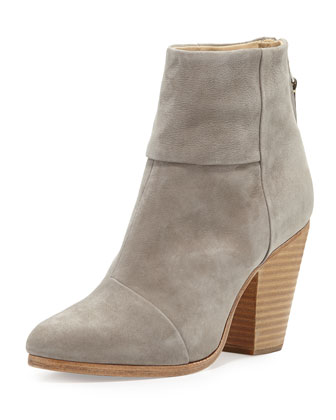 Newbury Nubuck Ankle Boot, Gray