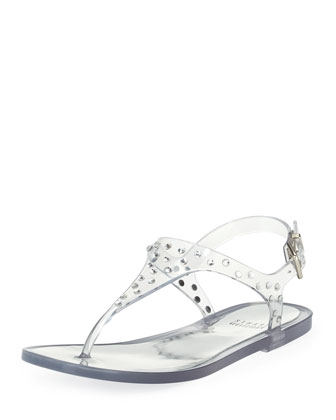 Glotacks Embellished Jelly Sandal, Clear