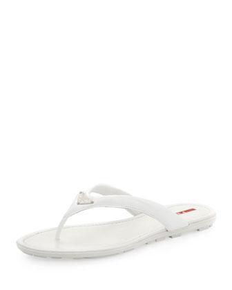 Vernice Logo Flip-Flop, Bianco