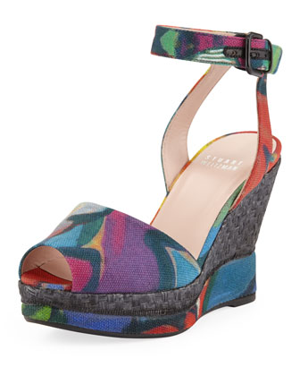 Waycoolmid Printed Canvas Wedge