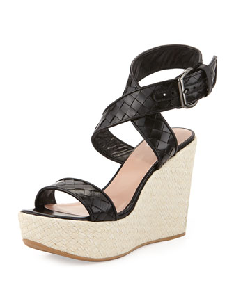 X-Ray Woven Crisscross Wedge, Black