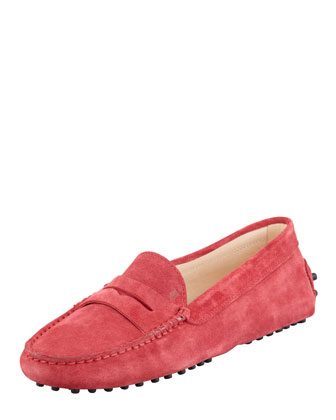 Penny Keeper Moccasin, Strawberry Red