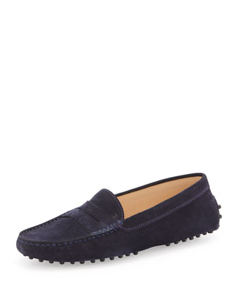Suede Gommini Moccasin, Blue