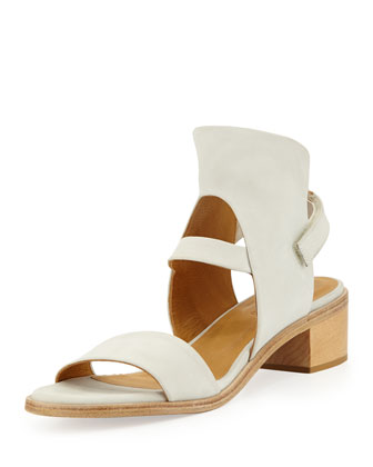 Tyrion Leather City Sandal, White