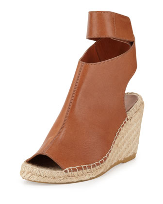 Seymour Espadrille Wedge Bootie, Luggage