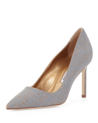 BB Metallic-Coated Cork Pump, Gray