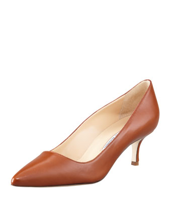 BB Leather 50mm Pump, Caramel (Made to Order)