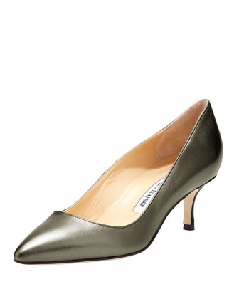BB Metallic Leather 50mm Pump, Anthracite