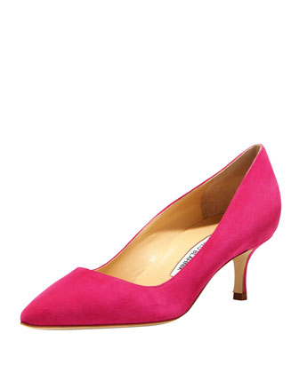 BB Suede 50mm Pump, Fucshia (Made to Order)