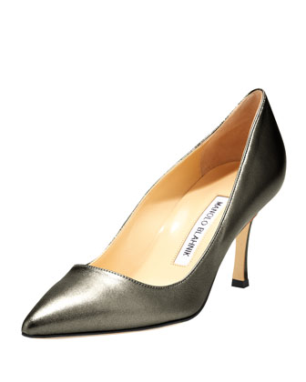 BB Leather 70mm Pump, Anthracite