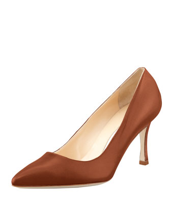 BB Leather 70mm Pump, Caramel (Made to Order)