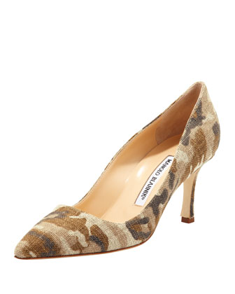 BB Linen 70mm Pump, Camo
