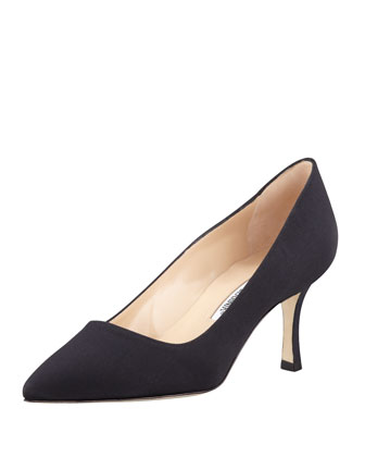 BB Crepe 70mm Pump, Black (Made to Order)