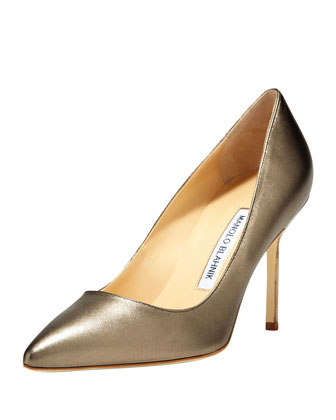 BB Metallic Leather 90mm Pump, Alba