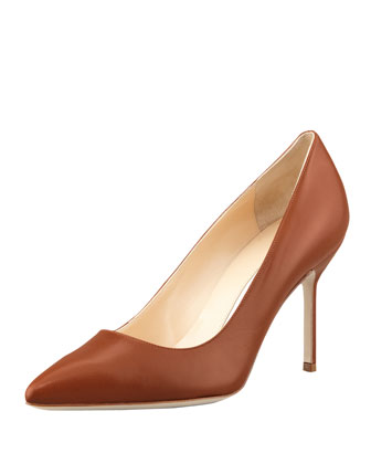 BB Leather 90mm Pump, Caramel (Made to Order)