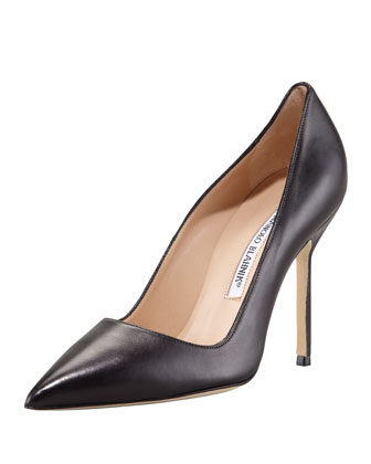 BB Leather 105mm Pump, Black (Made to Order)