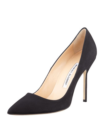 BB Crepe 105mm Pump, Black (Made to Order)