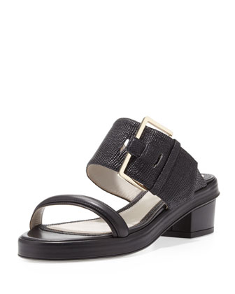 Buckled Double-Band Sandal