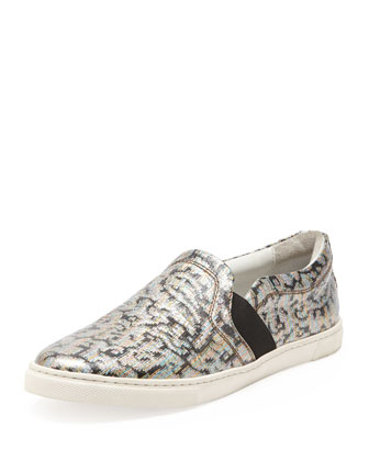 Metallic Jacquard Slip-On Sneaker, Multicolor