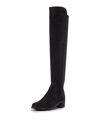 Reserve Suede Stretch Over-the-Knee Boot, Black
