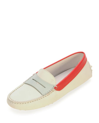 Colorblock Penny Keeper Moccasin, White