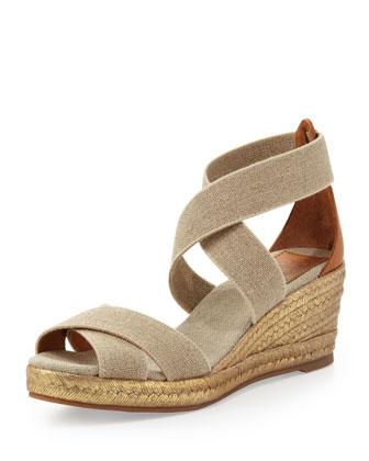 Adonis Mid-Wedge Sandal, Khaki
