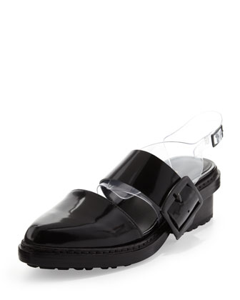 Cristobal Slingback Sandal, Black/Clear