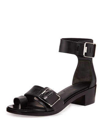 Jeisa Buckle City Leather Sandal