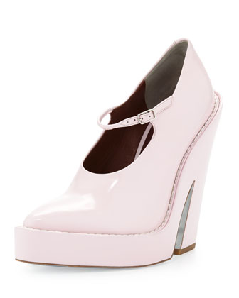 Manuel Runway Platform Mary Jane, Gummy Pale Pink