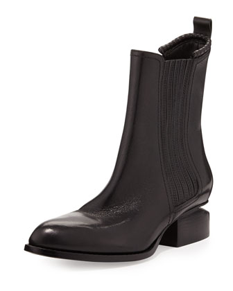 Anouck Lift-Heel Chelsea Boot, Black