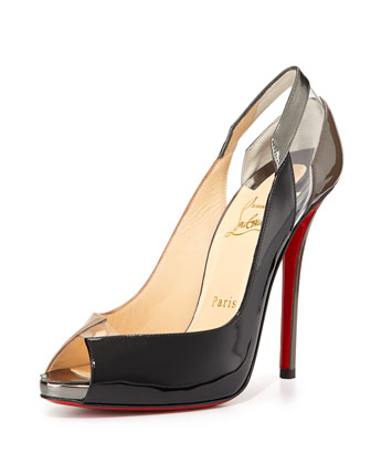 Technicatina Peep-Toe Combo Pump