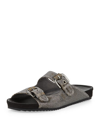 Freely Glitter Fabric Sandal, Pyrite