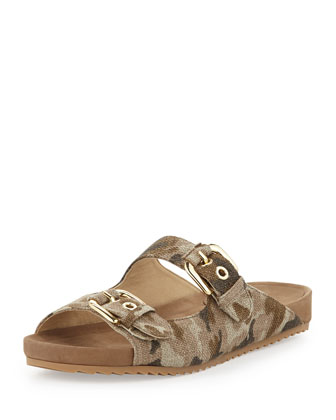 Freely Camouflage Canvas Sandal